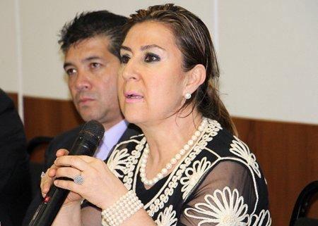 Desembargadora Ana Carolina Zaina durante a palestra de abertura