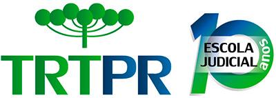 Marca comemorativa de 10 anos da Escola Judicial do TRT-PR