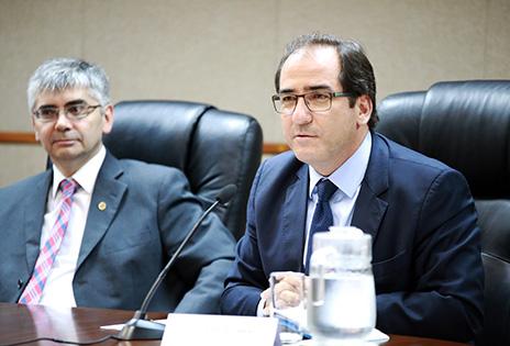 O juiz-auxiliar da Presidência do CNJ, Bráulio Gabriel Gusmão, e o conselheiro Luiz Cláudio Silva Allemand