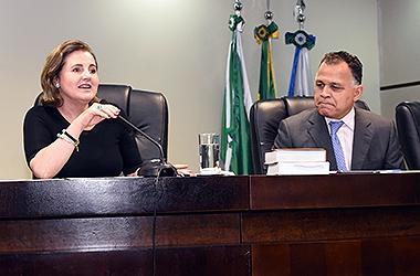 Desembargadora Marlene T. Fuverki Suguimatsu e procurador Manoel Caetano Ferreira Filho