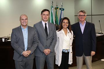 Professor Marcelo Rosadilla; juiz auxiliar da Presidência do TRT-PR Fernando Hoffmann; juiza do TRT-BA Doroteia Silva de Azevedo Mota e professor de Direito Jair Gevaerd