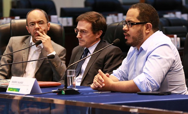 Caetano Galindo, desembargador Arion Mazurkevic e Rogério Galindo