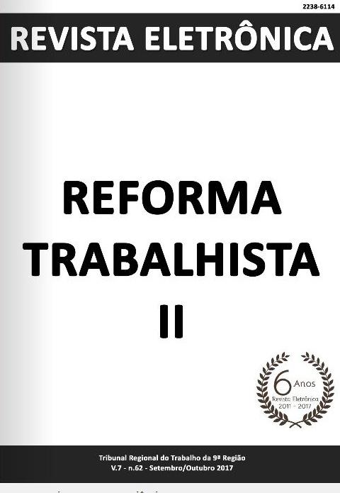 Capa da 62ª edição da Revista Eletrônica: Reforma Trabalhista II