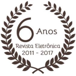 """Selo """"6 anos Revista Eletrônica 2011-2017"""""""